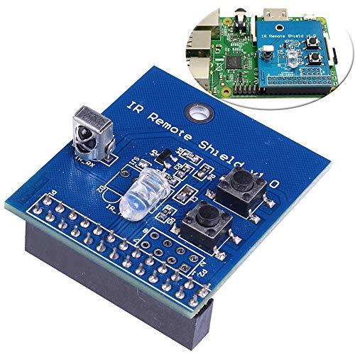 IR Transmitter Infrared Remote Hat Expansion Board 38KHz Transceiver Shield for Raspberry Pi RPi B+/2B/3B (Best Remote Control For Raspberry Pi Xbmc)