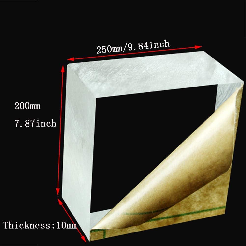 Thickness 10mm,Size 200x350mm Fly-Fiber Plexiglass Clear Acrylic Perspex Sheet Plastic Transparent Board Organic Glass Panel