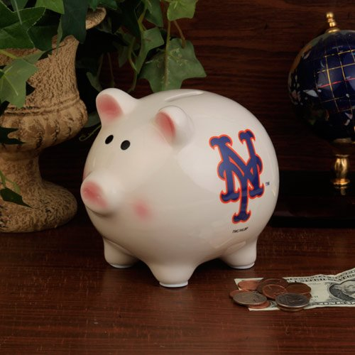 (The Memory Company MLB New York Mets Official Team Piggy Bank, Multicolor, One)