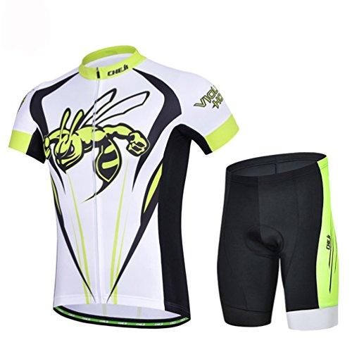 偽価値チップサイクル サイクリング 自転車 レーサー 上下セット メンズ 春夏用 短袖 紫外線防止 速乾吸汗 滑り止め 振動吸収 小物入れポケット付 ウインドブレーカー 選択可能