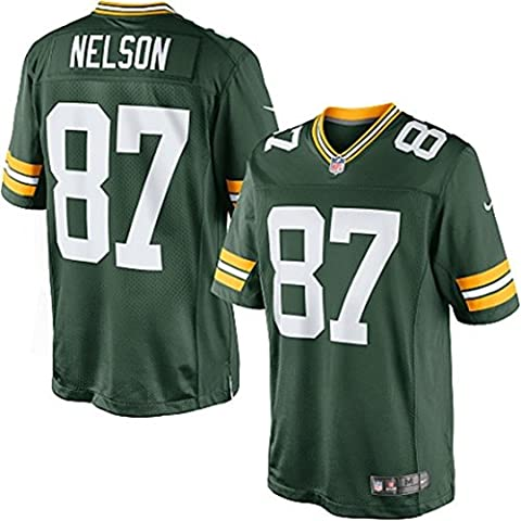 Mens 87 JordyNelson Limited Green Team Color Jersey Size XXL (Packer Jordy)
