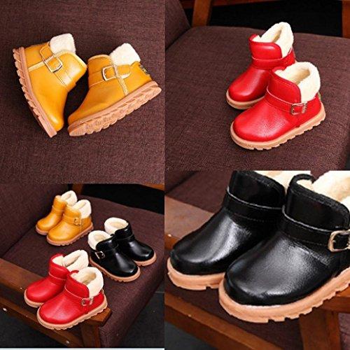 Upxiang Unisex Baby Schnee Stiefel, Mode Warm Verdickung Stiefel, Herbst Winter Kinder Schuhe, Jungen Mädchen Schnee Stiefel Rot