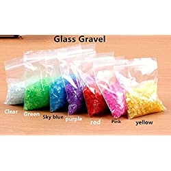 NewDreamWorld Tiny Dyed Glass Crushed Gravels for Marimo Pet Aquarium Accessories; 2-4mm, 4oz/bag …