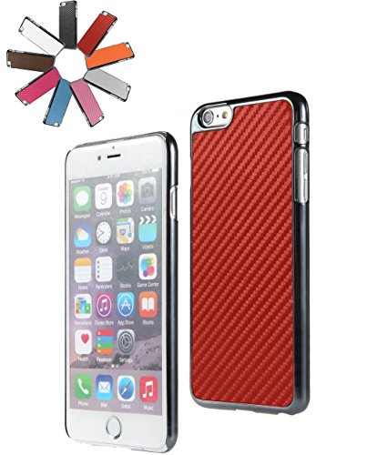 Bralexx 6233Metallic-6221Rot-Carbon Smartphone Case passend für Apple iPhone 6 Plus 13,9 cm (5,5 Zoll) metallic rot