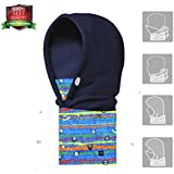 Triwonder Children's and Kids Thermal Fleece Full Face Cap Hat Neck Warmer Face Mask Balaclava Hat