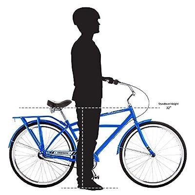 "Schwinn Men's Cosgrove 26"" Wheel Cruiser Bicycle, Blue, 14""/Medium"