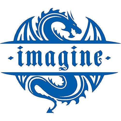 NBFU DECALS Imagine Dragons 2 (Azure Blue) (Set of 2) Premium Waterproof Vinyl Decal Stickers for Laptop Phone Accessory Helmet CAR Window Bumper Mug Tuber Cup Door Wall Decoration