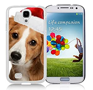 Popular Design Lovely Christmas Dog Durability White TPU Case For Samsung Galaxy S4,Samsung I9500 by Maris's Diary
