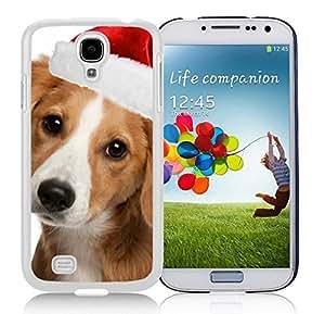 Popular Design Lovely Christmas Dog Durability White TPU Case For Samsung Galaxy S4,Samsung I9500
