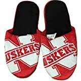 NCAA Nebraska Cornhuskers Official Slippers by Forever Collectibles (XL (13-14))