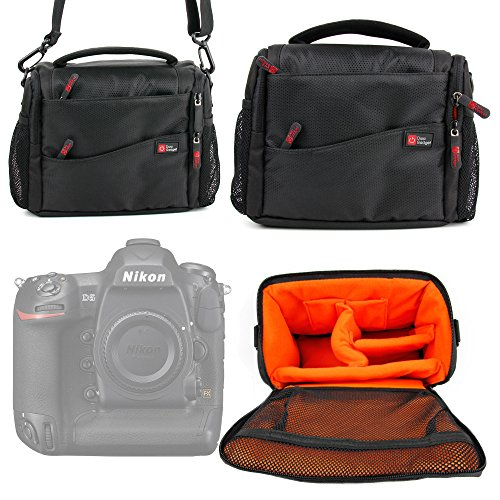 DURAGADGET Deluxe Shock-Absorbing & Water-Resistant Carry Case/Bag in Black & Orange for The New Nikon D500 / Nikon D5 Cameras -  5054646698263