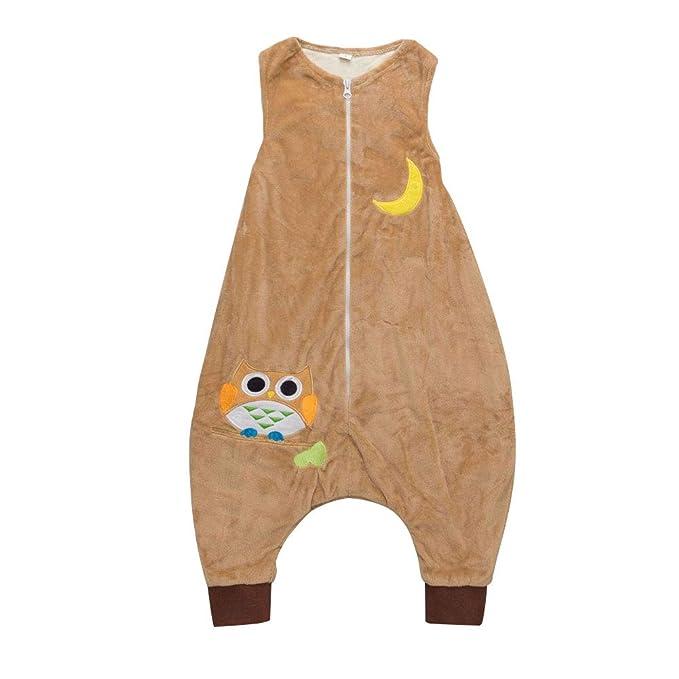 LSERVER Chaleco Jumpsuit para niños Saco de Dormir de algodón Pijama de Anti-Kick Piernas separadas: Amazon.es: Ropa y accesorios