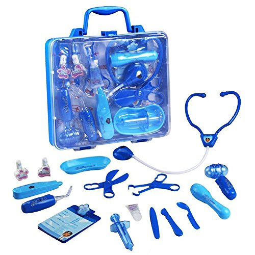 Doctor Kit Pretend Play Doctor Playset Medical Carrycase Nurses Toy Set Fun Toy Gift Early Education For Kids 3 4 Years Old, 16PCS