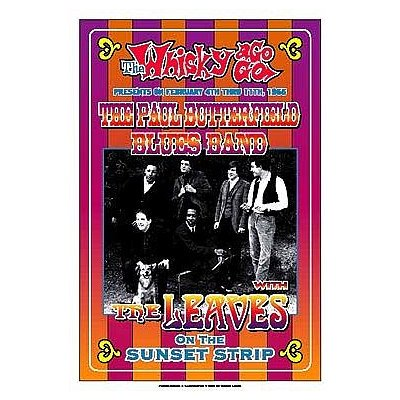 (14x20) Dennis Loren Paul Butterfield Blues Band Whisky-A-Go-Go Los Angeles 1966 Music Poster Print ()