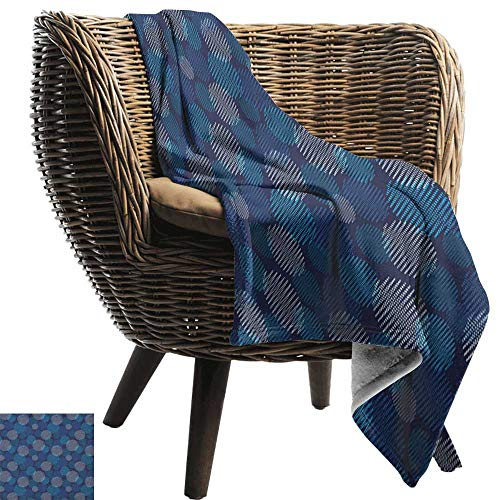 Sunnyhome Abstract,Weave Pattern Extra Long Blanket,Modern Digital Featured Polka Dots Extravagant Dotted Circles 60