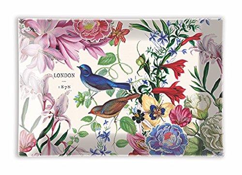 - Michel Design Works Rectangular Glass Soap Dish, Romance