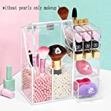 GreenSun(TM) Listing Acrylic Pearl Box Makeup Organizer Lipstick/Cotton/Makeup Brush Storage Boxes Cosmetic Display With Drawer
