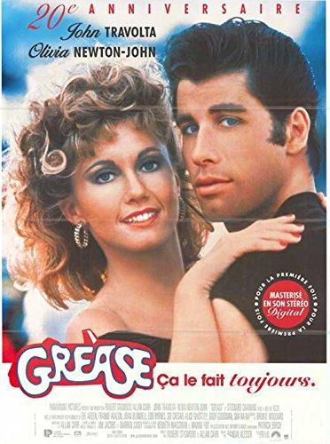 Grease Poster French John Travolta Olivia Newton-John Jeff Conaway