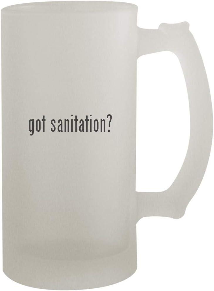 got sanitation? - 16oz Frosted Beer Mug Stein, Frosted