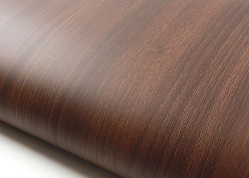 ROSEROSA Peel & Stick Backsplash Luxury Wood Textured Vinyl Self-Adhesive Wallpaper Shelf Liner Table and Door Reform (PF4065-1 : 2.00 Feet X 6.56 Feet)