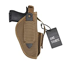 OneTigris Tactical Pistol Belt Holster with Mag Pouch for Glock 17 M9 M1911 USP Suitable for Right Handed & Left Handed