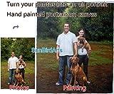 Custom family portrait painting-Hand painted Original oil portrait-Child portrait-Wedding portrait oil painting-Pet portrait-House portrait paintings and etc-Portrait from photos-Four Figures