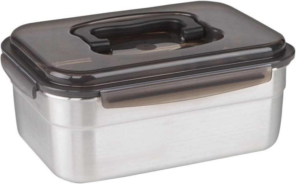 STENCOC Stainless Steel BPA Free Rectangular Leakproof Airtight Kimchi/Pickle / Food Storage Container Saver (3L / 101oz / 9.8