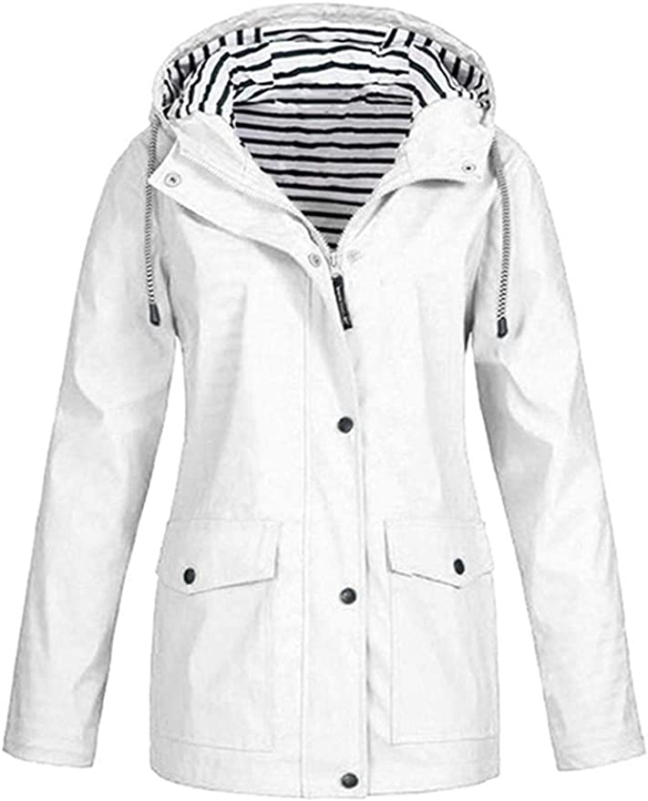 Onsoyours Blouson Bomber Femme Manches Longues Vintage Veste Bomber Casual Zipper Jacket College Poches Coupe-Vent Baseball Blouson Sweat Veste