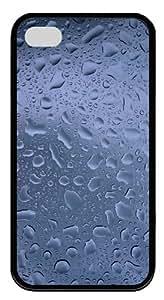 Raindrops TPU Silicone Case Cover for iPhone 4/4S ¨CBlack