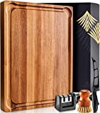 Large Wood Cutting Board with Handle - Butcher
