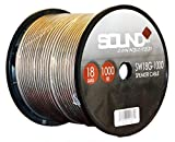 SoundBox Connected 18 Gauge 1000' Speaker Wire 18 Ga Clear Home/ Car 1000 Ft. Speaker Cable Spool