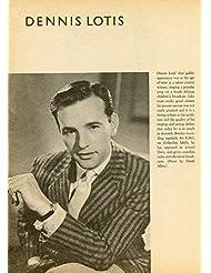 Dennis Lotis original clipping magazine photo 1pg 8x10 #R1870