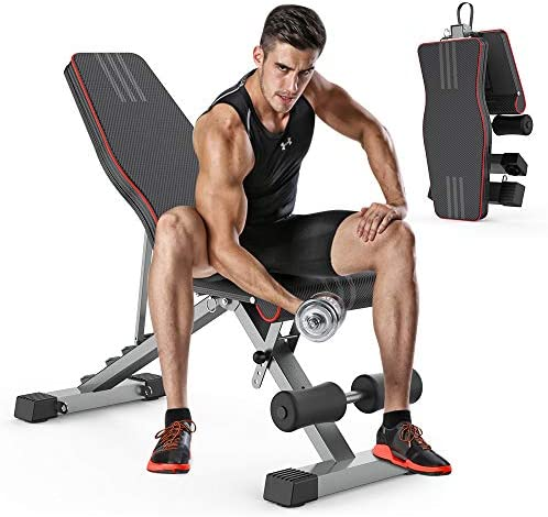OUNUO Adjustable Weight Bench