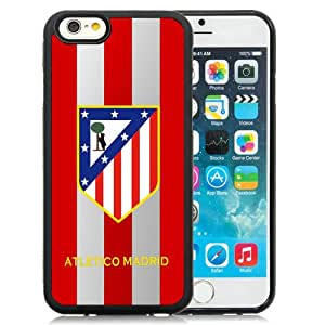 Atletico Madrid Black Abstract Design Custom iPhone 6 4.7 Inch TPU Case