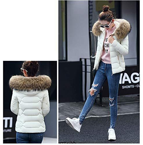 Caldo Coat Piumino Cime Outerwear Con Moda Corto Lunga Tops Bianca2 O0xIAqw