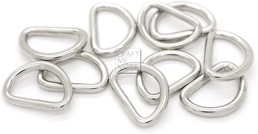 1 1//4 Inches, Gunmetal CRAFTMEmore D-Ring Findings Metal Non Welded D Rings for Belts Bags Landyard Leathercraft Available 4 Colors 1 1//4 /& 1 1//2 Inches Pack of 20