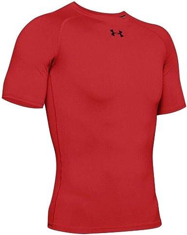 salami Casa impactante  Under Armour HeatGear Armour - Camiseta de manga corta para hombre, color  rojo: Amazon.es: Ropa y accesorios