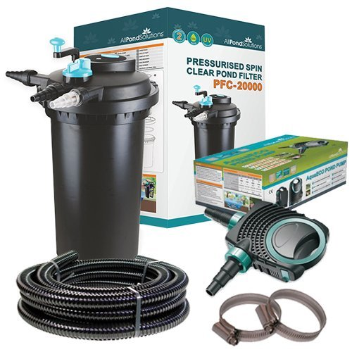 PFC20000KIT Pressurised Koi Fish Pond Filter UV Light Steriliser all in one (PFC3000)