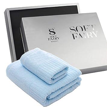 LongYu Toalla de baño para Adultos Toalla de baño para Toallas de algodón Traje de Tres Piezas Toalla de Regalo Caja de Regalo 782g (Color : C): Amazon.es: ...