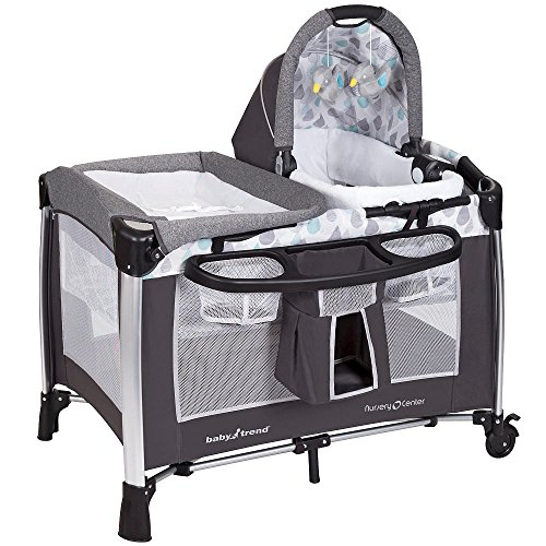 Baby Trend Go-Lite Elx Nursery Center Playard- Drip Drop Blu