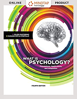 MindTap Psychology for Pastorino/Doyle - 6 months - Portillo's What is Psychology? Foundations - 6 months - 4th Edition [Online Courseware]