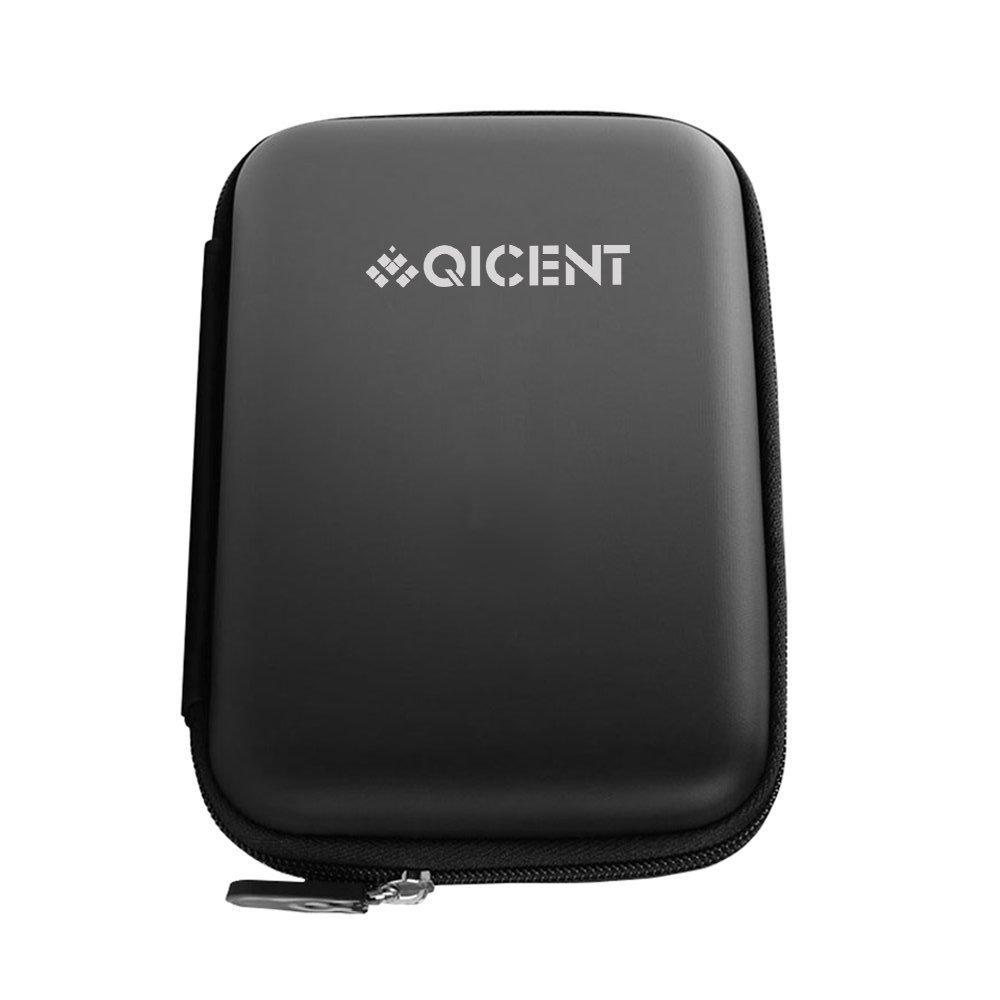 Funda para Disco Duro Externo, para HDD/SSD 2.5 Pulgadas, Cables, Pasaporte, ect.Negro QICENT QIC DSP-F3-BK