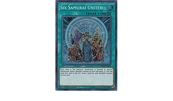 M//NM 1x *EURO* Six Samurai United SPWA-EN013 Super Rare 1st Edition YuGiOh