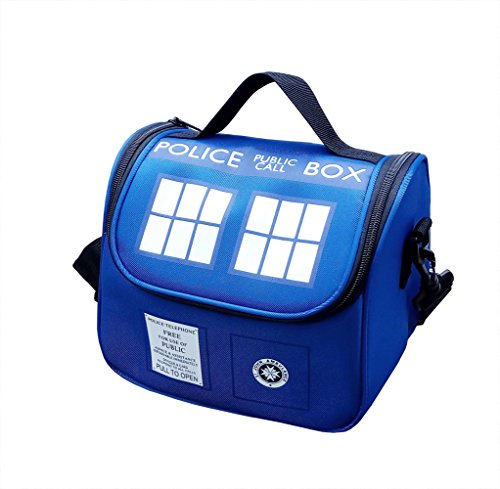 Police Public Call Box Lunch Bag]()