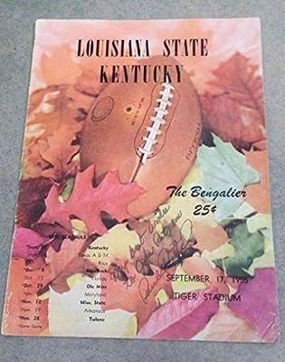 KENTUCKY LSU FOOTBALL PROGRAM - 1955 - SIGNED 2x PAUL DIETZEL - HIS FIRST GAME