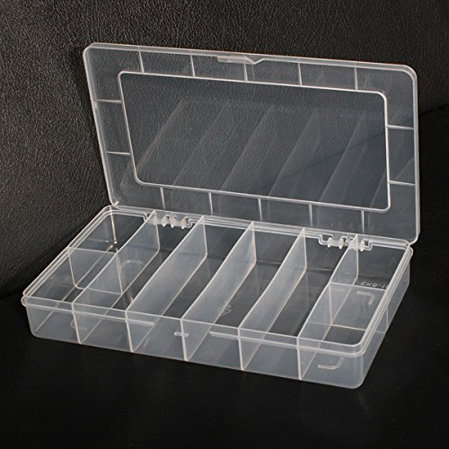 Generic 8 Compartments Storage Plastic Electronics Tool Gadgets Box Case by Generic