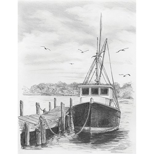 Darice, SKETCHING MADE EASY FISHING BOAT DWO