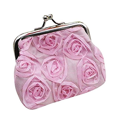 Bag Pink Womens Wallet Clearance Rose Coin Handbag Flower Clutch Wallet 2018 Wallet Small Sale Noopvan Purse U7w4qZZ