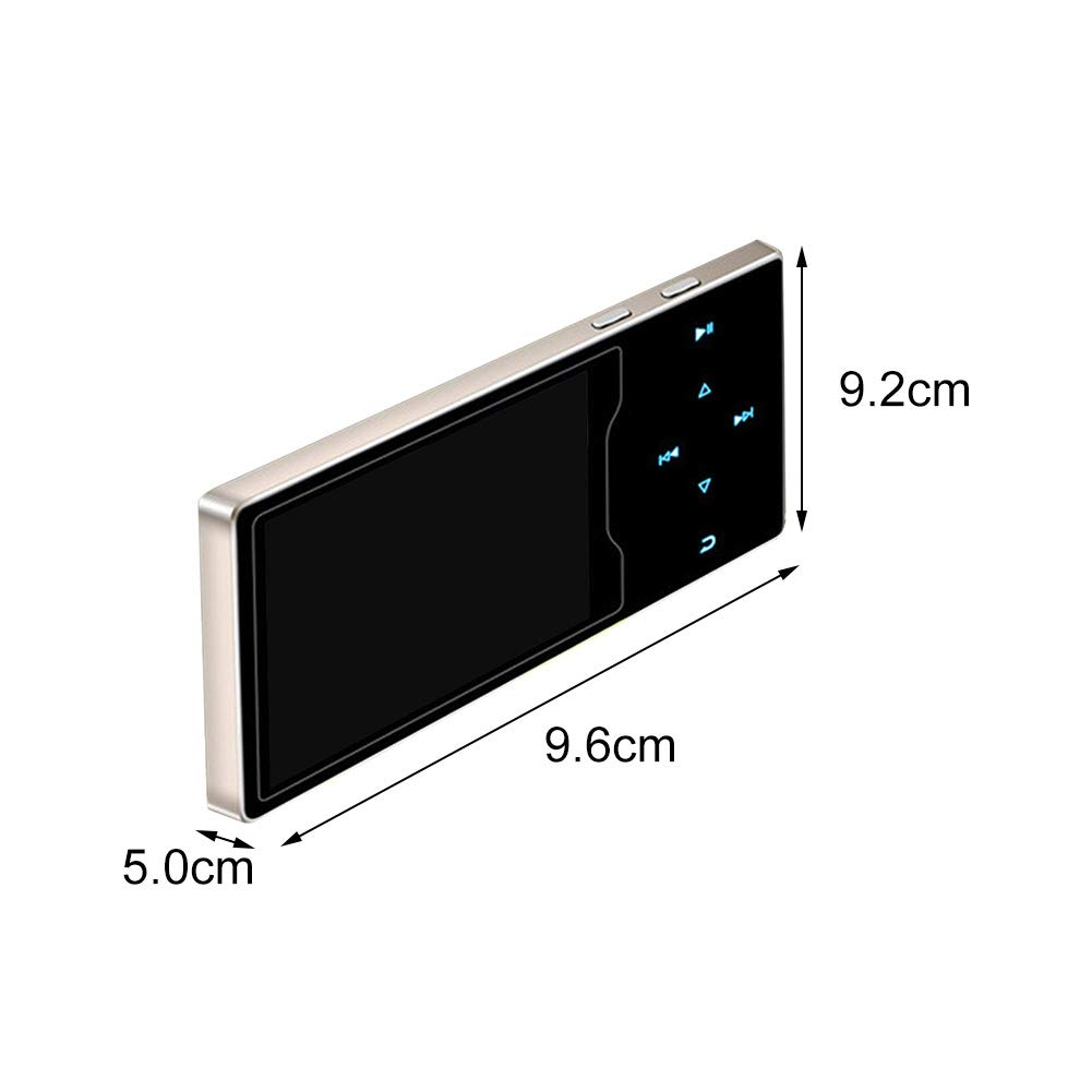 MP3 Player with Bluetooth 4.2, 8GB Portable Lossless Sound Music Player with FM Radio Recorder Touch Button Music Speaker,Support up to 128GB (Gold) by Lovt (Image #2)