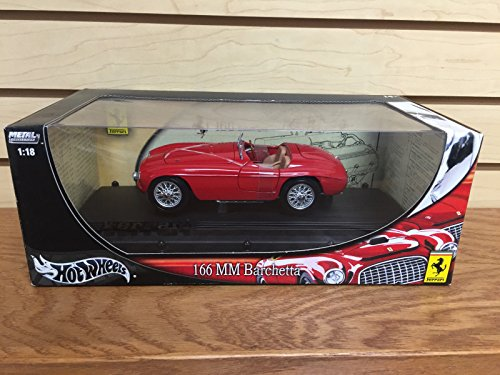 HOT RED Ferrari 166 MM Barchetta Wheels Metal Collection diecast 1:18 (18 Mattel Ferrari)